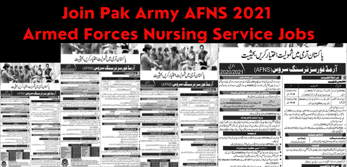 Join Pak Army AFNS 2021 Armed Forces Nursing Service Jobs