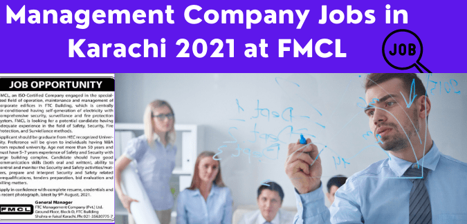 Management Company Jobs in Karachi 2021 at FMCL   Management Jobs